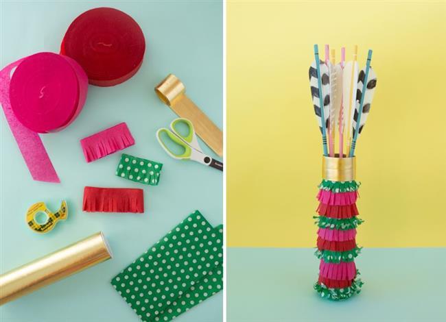 Красный, розовый, зеленый и золотой цвет для упаковки подарков.