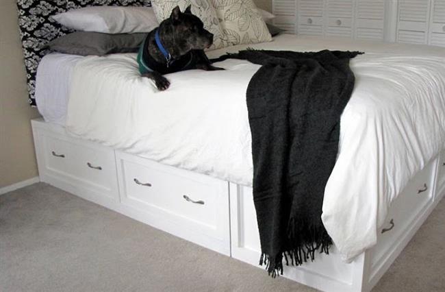 Стильная кровать по дизайнерскому проекту.