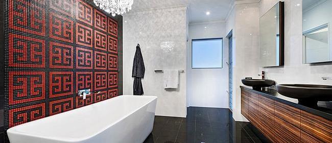 Выбор цвета для ванной: 21 ванная комната красного цвета