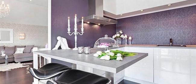 25 for Purple kitchen wallpaper