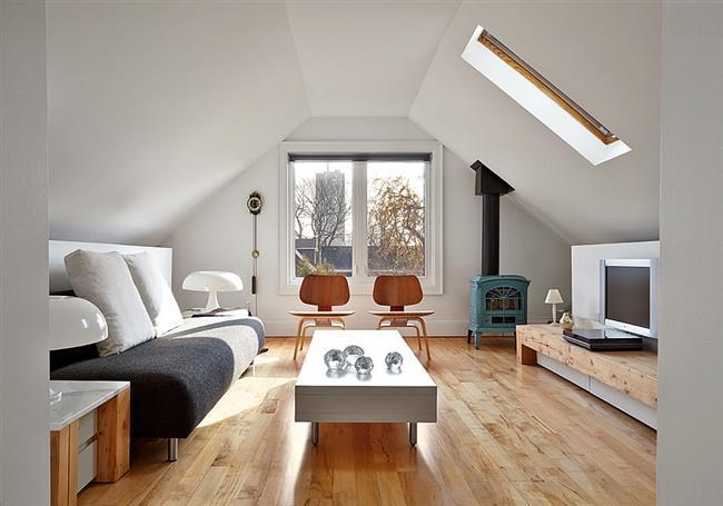 Небольшая уютная гостиная в стиле скандинавский минимализм.