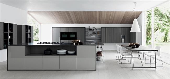 Стильная итальянская кухня из дизайнерской коллекции Калеа.