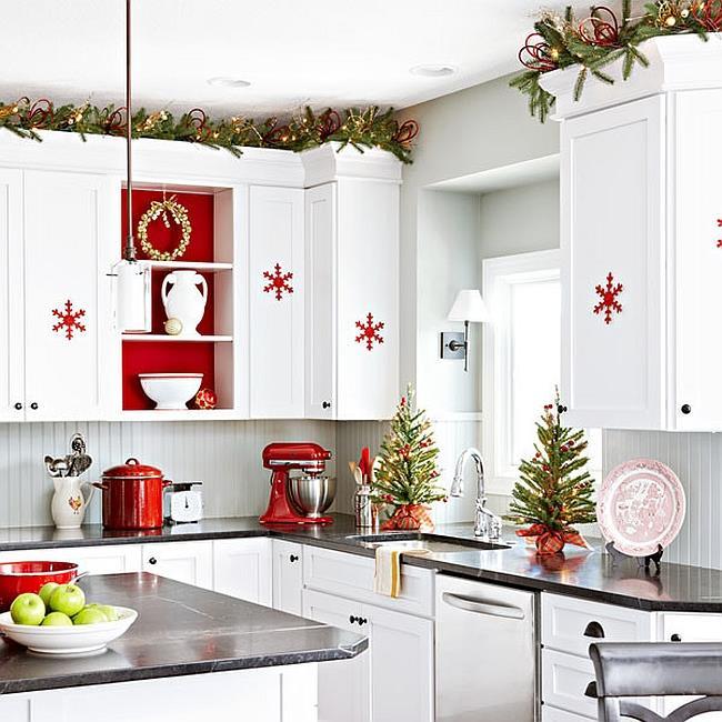 Украшаем кухню к новому году