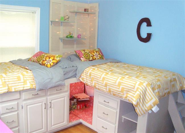 Стильные детские кровати из кухонных шкафов.