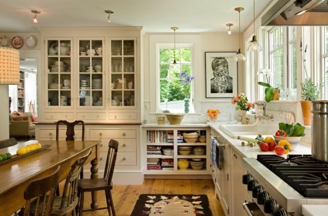 Кухня в стиле кантри может обладать целым рядом современных черт