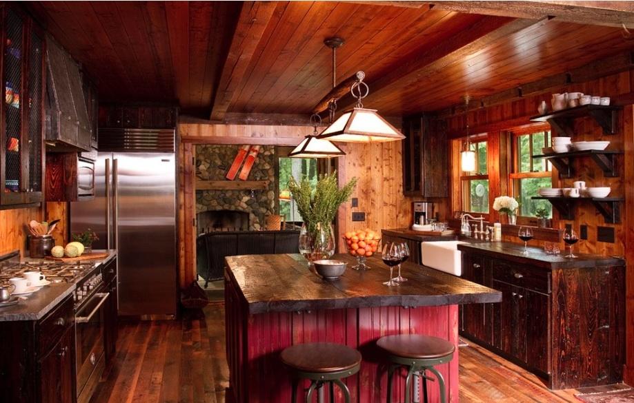 Кухни в стиле кантри - это всегда оригинальный и яркий интерьер