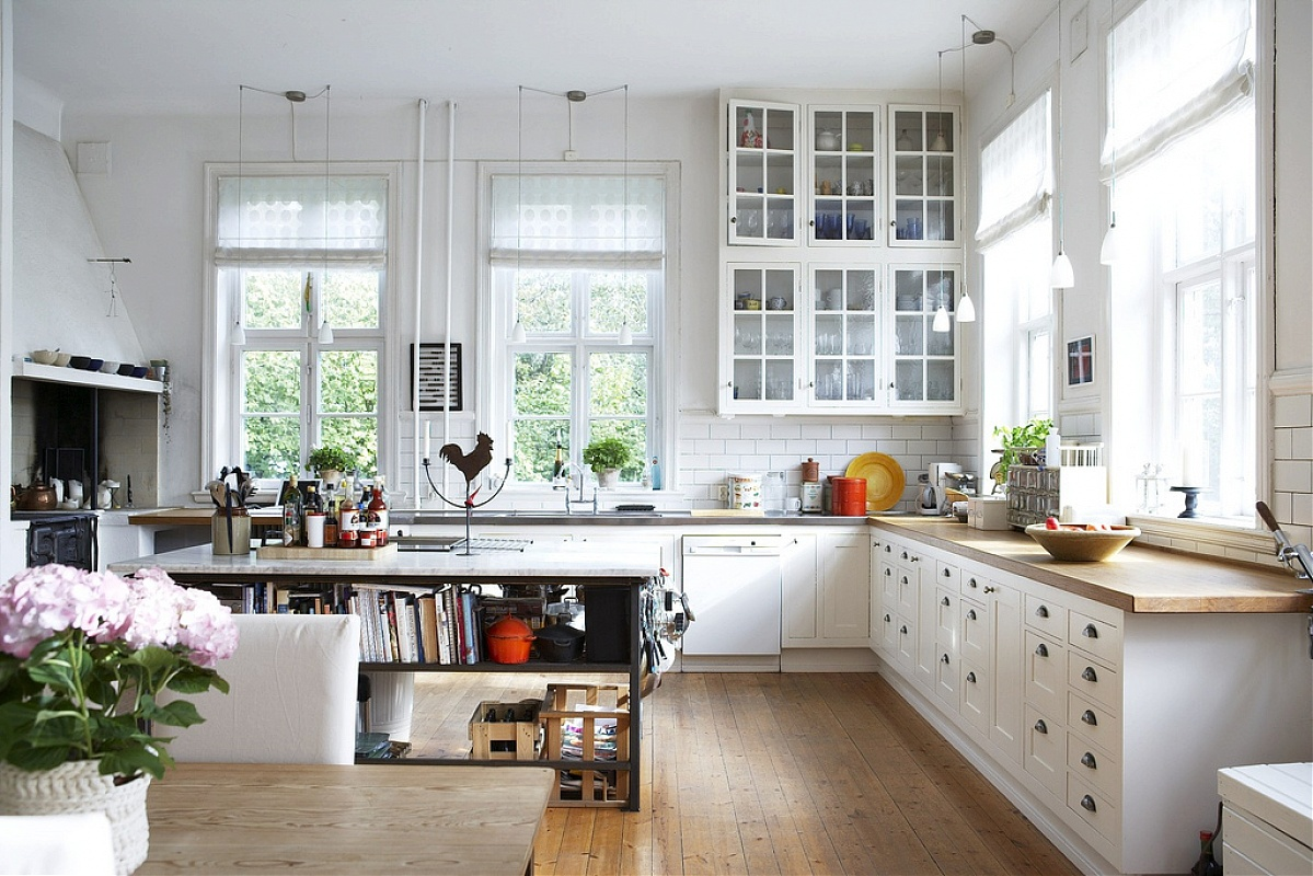 Скандинавский стиль на кухня поможет в создании практичного интерьера