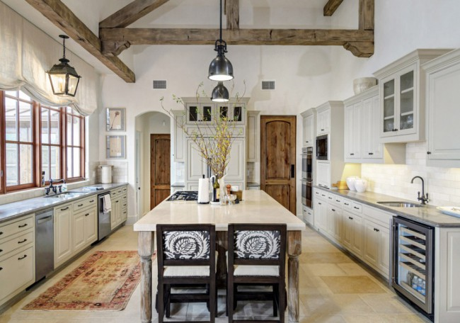 white-feminine-rustic-kitchen