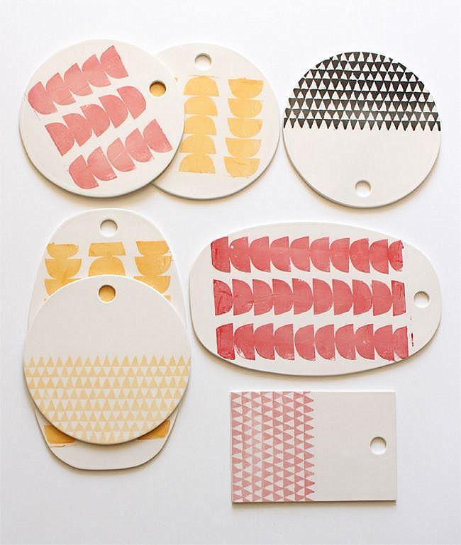 Узорчатые тарелки в скандинавском стиле от Baba Souk.