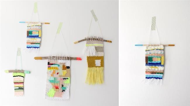 Красочные украшения из плетенных нитей.