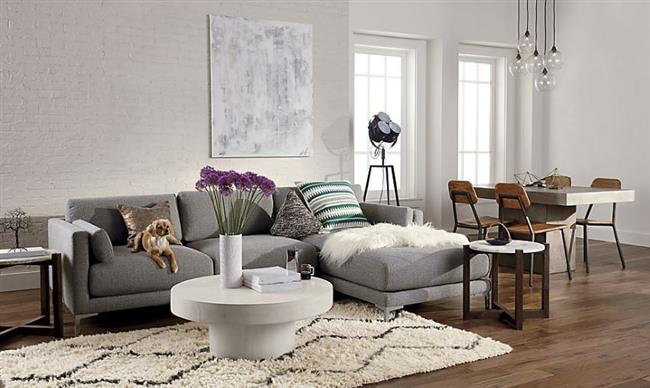 16 Charcoal Gray Sectional Sofa with Chaise Lounge