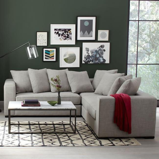 Стильный модульный диван в форме буквы Г.