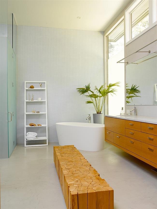 Стильная современная ванная.