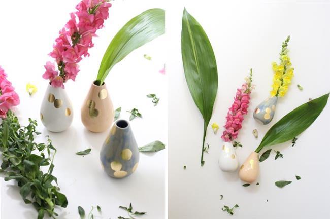 Изысканные глиняные вазы ручной работы.