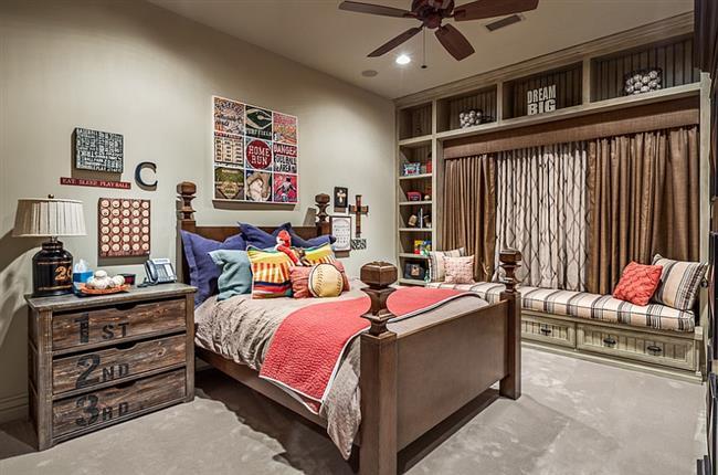 Детская спальня в современном стиле кантри.