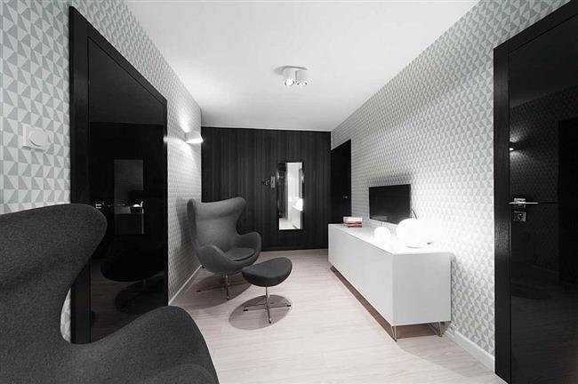 Стильная гостиная польской квартиры.