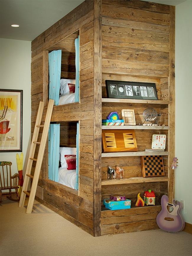 Стиль кантри в интерьере детских комнат, фото идеи