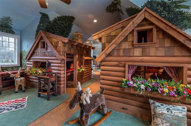 Оригинальные деревенские домики для сна и игр.