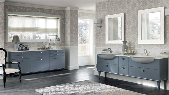 Итальянская ванная комната в классическом стиле.