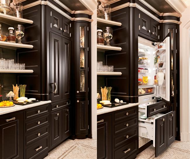 Необычный холодильник-шкаф от компании GE Monogram.