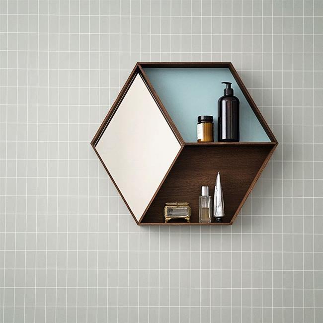 Стильные геометрические обои в интерьере дома.