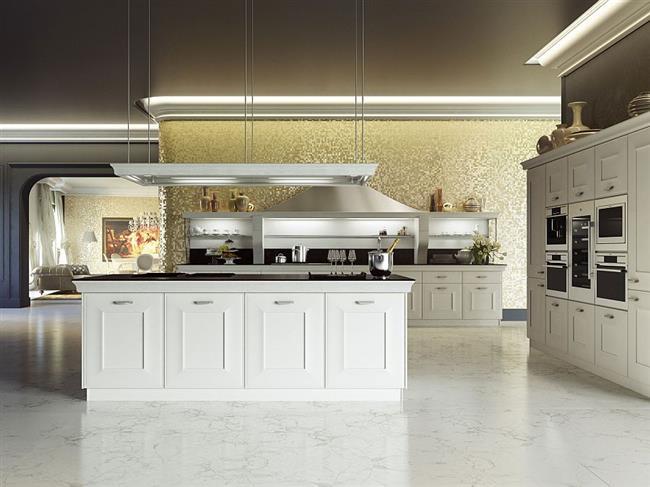 Кухонная мебель «Джоконда» в интерьере небольшой кухни.