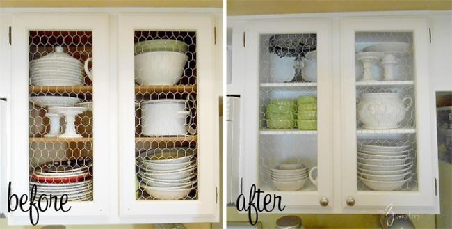 Трансформация кухонных шкафов.