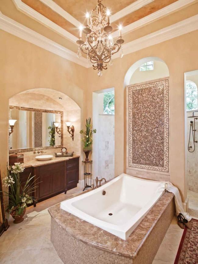 Ванная комната в эклектическом направлении.