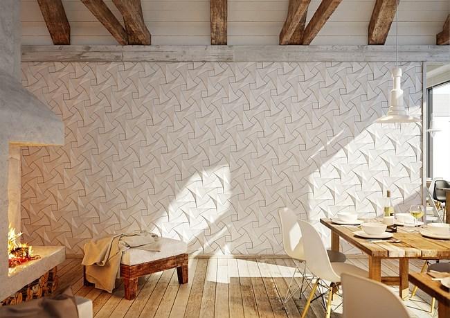 Геометрическая плитка от дизайнерской компании KAZA.
