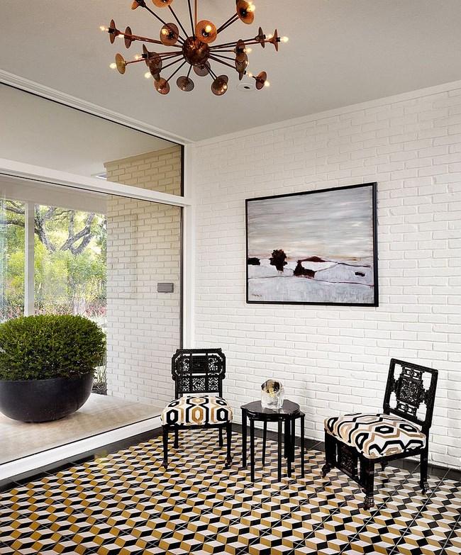 3D плитка в классической гостиной.