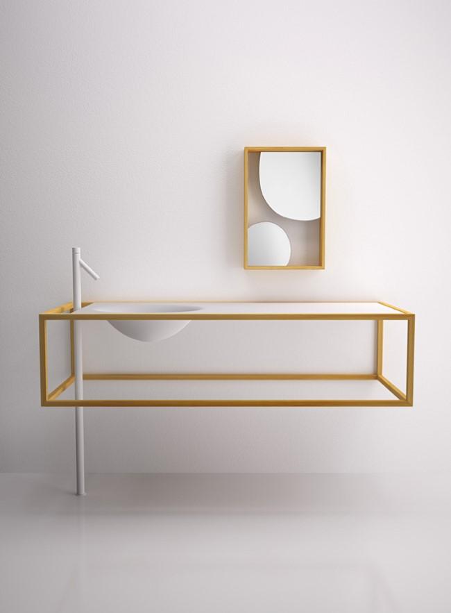Минималистический мебельный комплект от Nendo.