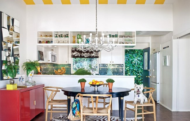 Ceiling-with-yellow-and-white-stripes-for-the-modern-kitchen (Custom)