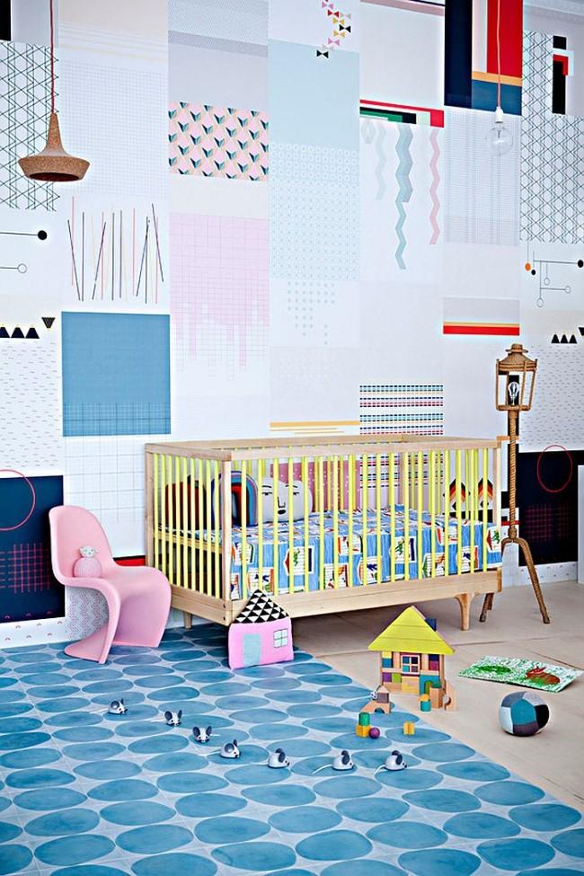 Стильная детская комната с элементами скандинавского стиля.