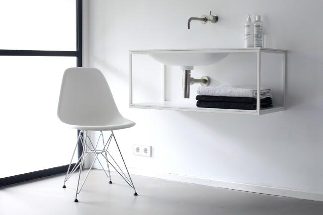 Минималистическая мебель для ванной от компании Frame w/ Blend.