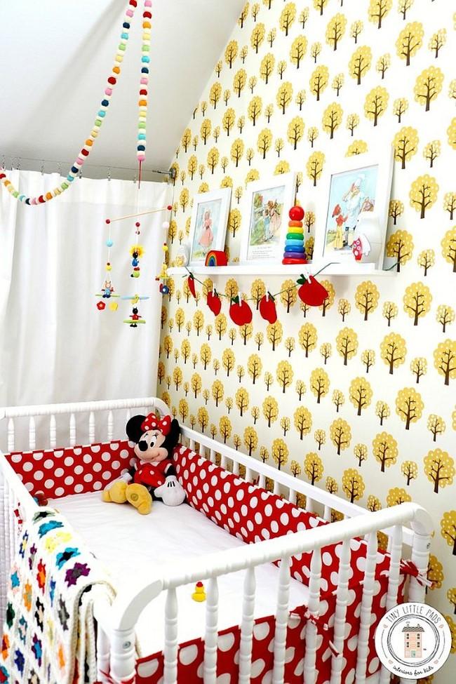 Детская комната в ретро и скандинавском стилях.