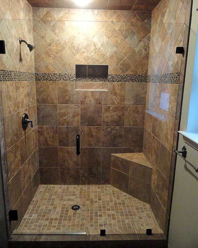Master bathroom walk in shower designs