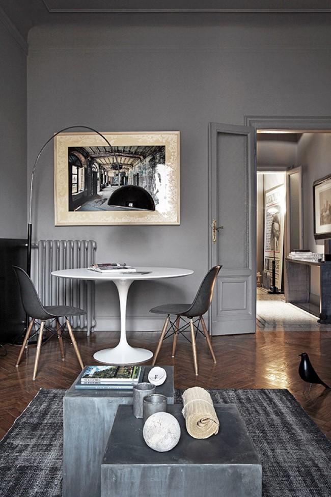 Миланская квартира с интерьером в ретро-стиле.