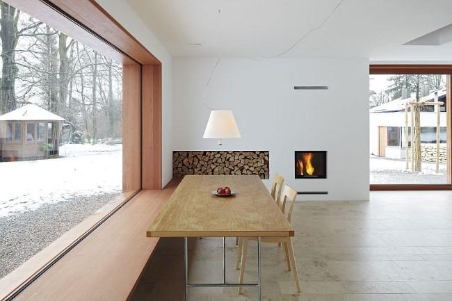 Стильный немецкий дом в минималистическом стиле.