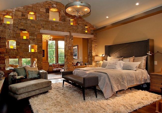 Стильная спальня с элементами классического и современного стилей.