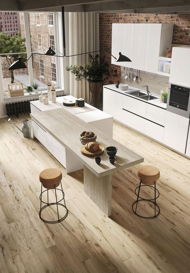 Красивая кухня в стиле минимализм предоставляет свободу для полета фантазии