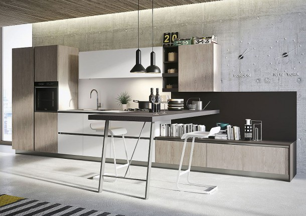 Современный дизайн рабочего пространства на кухне
