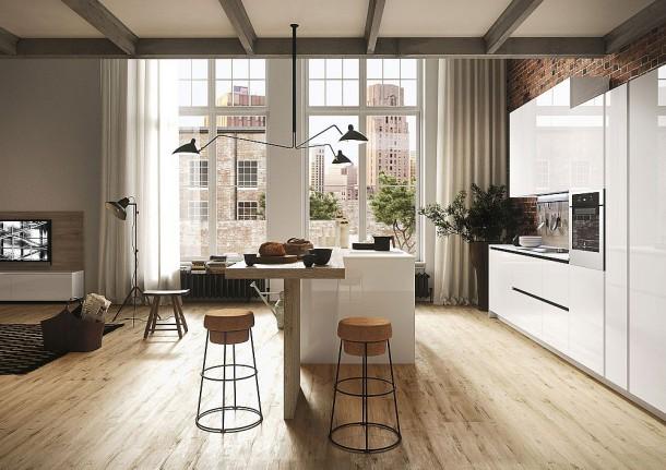 Современный дизайн кухни с открытой планировкой