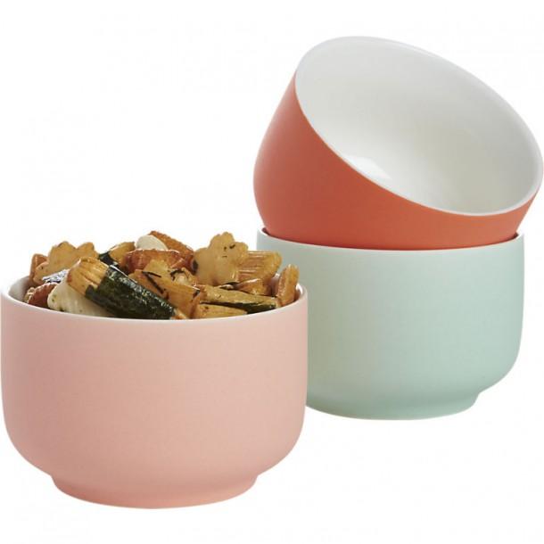 Полукруглые разноцветные мини-чашки