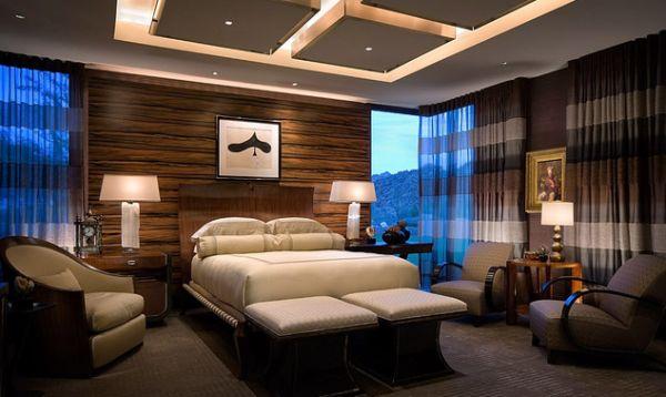 Шикарный дизайн потолка с подсвеченными квадратами для восхитительной спальни