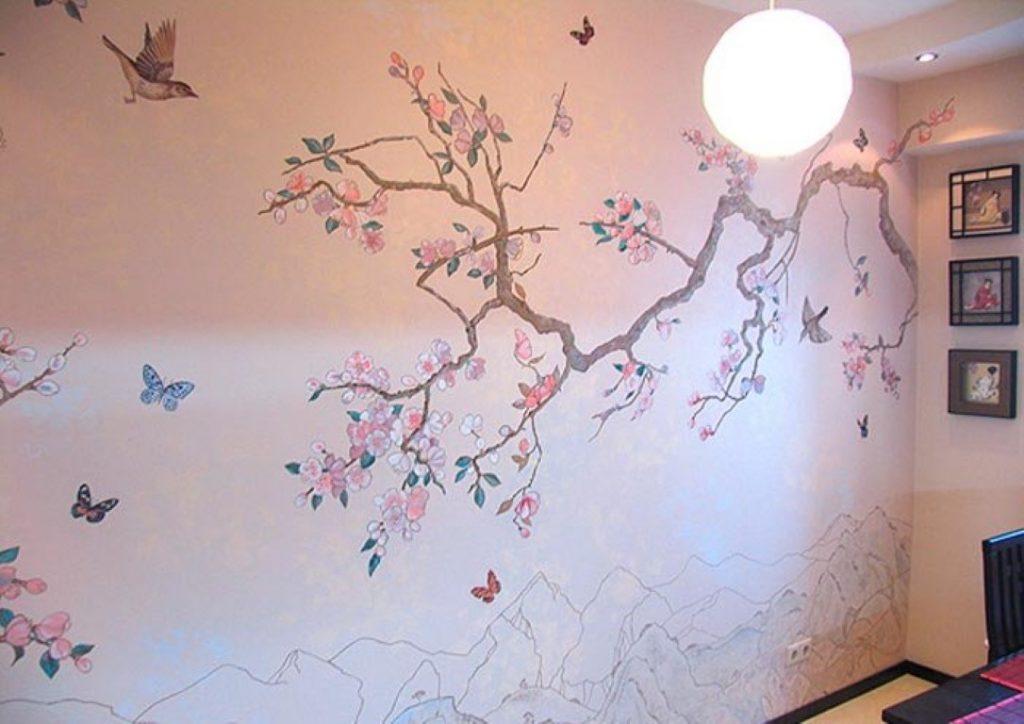 Роспись стен своими руками для новичков